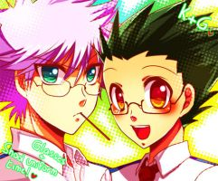 HxH - Glasses and uniforms by Yuki-mono