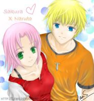 Naruto x Sakura - Young love by Lems