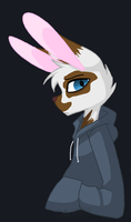 Edgy Bunny Dude (Redraw) by Dollmaker47