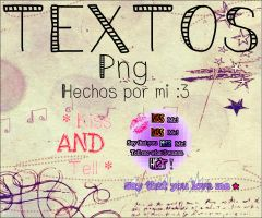 #Textos Png :) by Sophiafacal