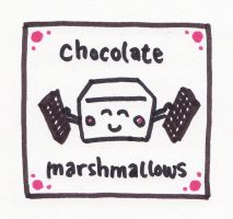 Chocolate marshmallows label by thegaygamer