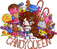 Candy Queen Chibi Commission by YamPuff
