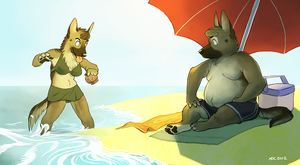 Beach Bums by Katmomma