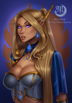 Lady Silvershield by The-Moonbound