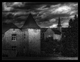 castle and church by rhipster