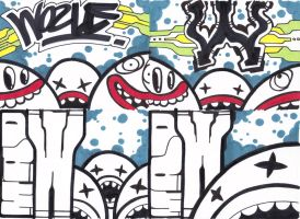 Mad W Stickers x4 - 2008 by PauLeeW