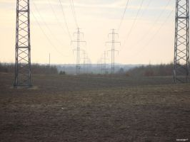 Landscape and electricity by PessimistUnicorn