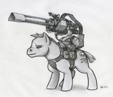 My Little War Pony by RobtheDoodler