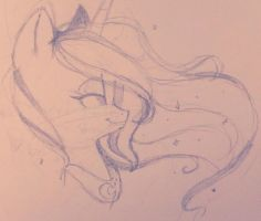 Princess Luna Sketch by HoneyxMonster