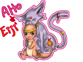.::Espeon and Charmander::. by Sasuke323