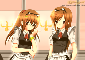 In the Maid Cafe by LegenSegerr