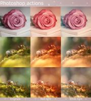 Light Photoshop actions - Free by aoao2