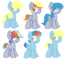 .:Derpy x Rainbow Dash:. [4/6 open] by redroseadopts