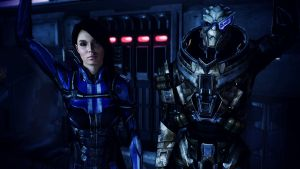 Ashley Williams and Garrus Vakarian by johntesh
