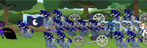 Luna's March to Trottingham by Vector-Brony