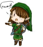 Link cosplay doodle by Raspberrychan3