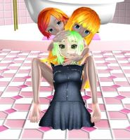 MMD girl by practical training used 3DCG items 2 by purufeido