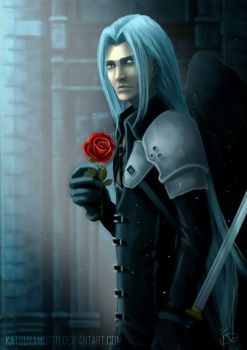 Sephiroth-rose by katsuyamotto