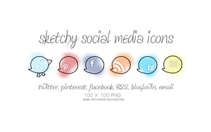 sketchy social media icons by slanderxoxo