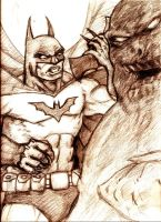 Clayface vs. Batman Rough Sketch by MisterHydesSon