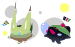 Grassy Pwanti and LilyPad Pwanti [OPEN] by GooMama
