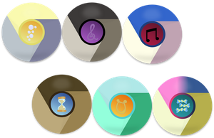 2nd Mane 6 Google Chrome Icons by EMedina13