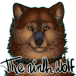 The ninth wolf Icon Big by santineline