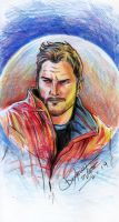 Guardians of the Galaxy Peter Quill sketch by dexterwee