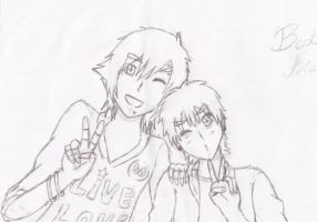 Mordecai and Rigby by onodera-Rin