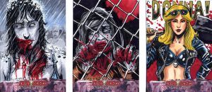More Deadworld zombie sketch cards by Kapow2003