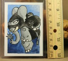 Elephant Ninja ACEO by CatharsisJB