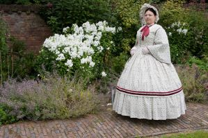 1860 Dress Castlefest Flower by Saelok