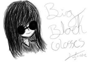 BLACK GLASSES by suyre