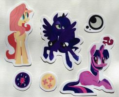 MLP laminated Sticker Set (sold out) by spacekitsch