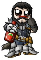 Hawke Chibi - Male by RedPawDesigns
