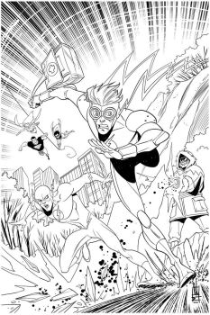 Unused Young Justice cover by Miketron2000