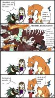 Magical Wolves, Orange Dragons, and Giant Dogs by Syruubi