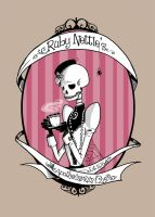 Ruby Nettle's Apothecarium Co. Label by GoatSocks
