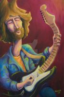 Eric Clapton Caricature by Retro-Sorrento