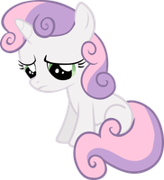 A sad Sweetie Belle by FabulousPony