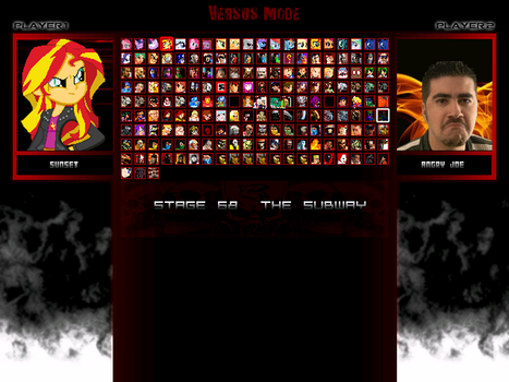 My MUGEN Roster In 2017 by Freedom-Warrior94