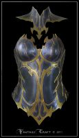 Dark  Elf Leather Corset by Fantasy-Craft