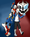 Papyrus and Sans by Spitestar