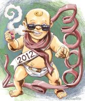 Too Cool New Year Baby by 66lightning