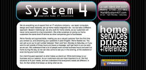 System4 updated Web Site by Fourthletter