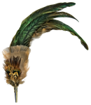 feathered broche png by camelfobia