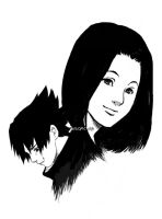 Mother: Mikoto and Sasuke by mausmouse
