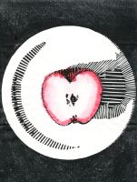 .apple.woodcut. by witchlady750