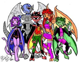 Teen Gargoyles, GO! by Merry-Muse