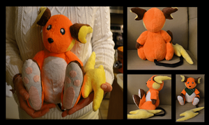 Raichu Plush Extra Views by Mlggirl